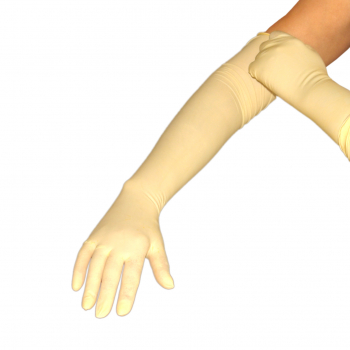 Ultralong latex exam gloves - 6 gloves - size to your choice